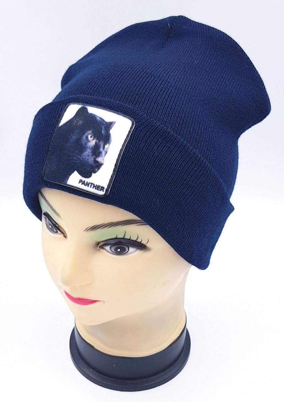 Детская вязаная шапка Klaus Объемный шеврон 53-55см (363-ВА)