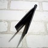 Зажим для денег кожаный с отделением для карт черный, фото 5