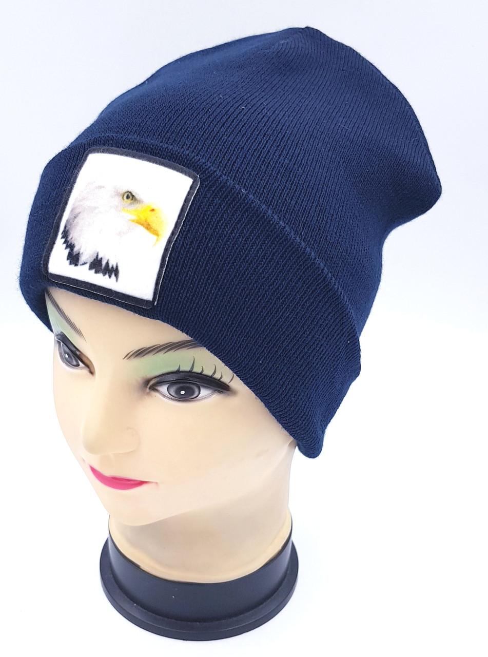 Детская вязаная шапка Klaus Объемный шеврон 53-55см (364-ВА)
