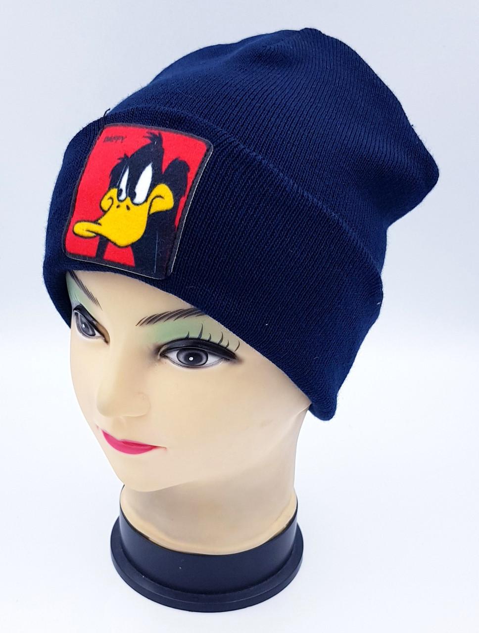 Детская вязаная шапка Klaus Объемный шеврон 53-55см (365-ВА)