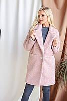 Женское теплое  модное пальто каракуль   норма и батал новинка 2020
