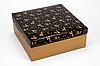 """Коробка """"ГифтБокс"""" М0069-о8 золотой принт, размер: 250*250*100 мм"""