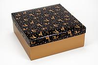 """Коробка """"ГифтБокс"""" М0069-о8 золотой принт, размер: 250*250*100 мм, фото 1"""