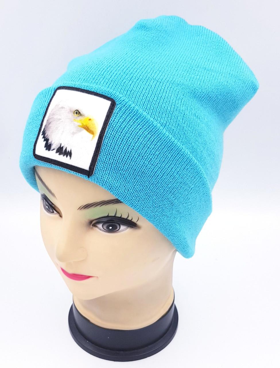 Детская вязаная шапка Klaus Объемный шеврон 53-55см (374-ВА)