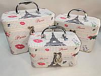 Чемодан сумка кейс для косметики набор 3 штуки только ОПТ