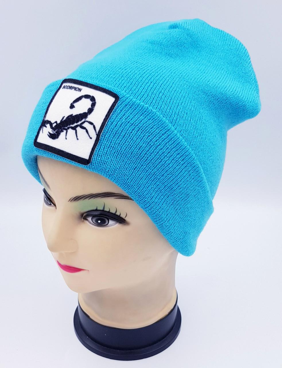 Детская вязаная шапка Klaus Объемный шеврон 53-55см (375-ВА)