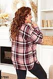 Женская клетчатая рубашка с карманами р. 52, 54, 56, 58, фото 3