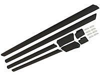 Нижние молдинги (листва, накладки) на Audi 100 C4 (Ауди 100 С4, ц4). Хорошее качество, не Китай.