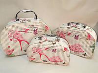 Чемодан сумка кейс для косметики набор 3 штуки Набор косметичек 3 шт Кейс для косметики только ОПТ