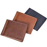 Зажим для денег кожаный с отделением для карт черный, фото 8