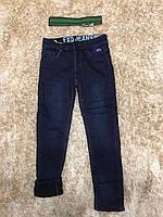 Джинсові штани для хлопчиків на флісі F&D -134-164 р. р.