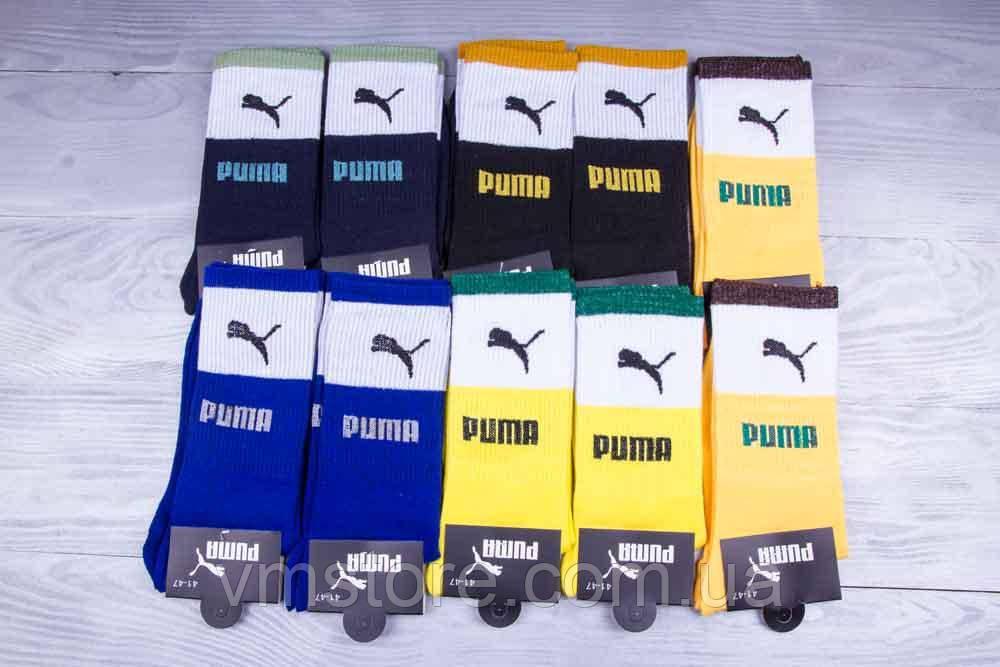Шкарпетки чоловічі, високі, копія бренду, Puma набір 12 пар