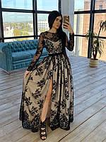 Женское сверкающее платье макси с разрезом (четыре цвета), фото 1