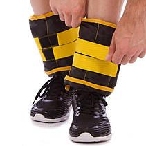 Обважнювачі для рук і ніг 2,5 кг манжети для рук і ніг по 2,5 кг вантажі на ноги і руки (підійдуть для бігу), фото 2