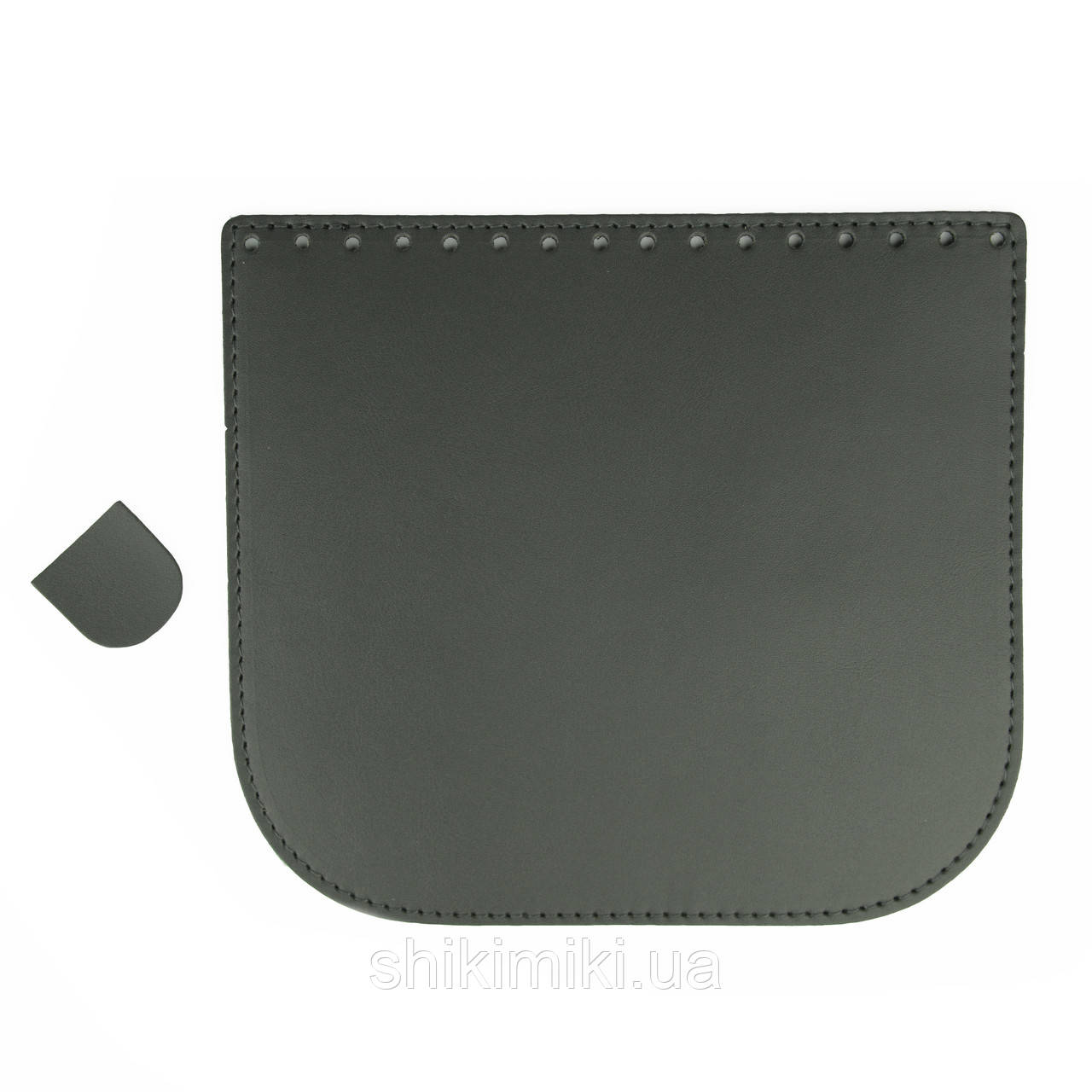 Крышка для сумки из эко-кожи (20*18), цвет темно-серый под кожу
