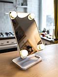 Зеркало с LED подсветкой для макияжа Cosmetie MIRROR Mode Arivans 27 x 16.5 см, фото 2