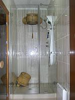 Душевые стеклянные перегородки из прозрачного стекла , фото 1