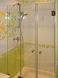 Душевые стеклянные перегородки из прозрачного стекла , фото 3