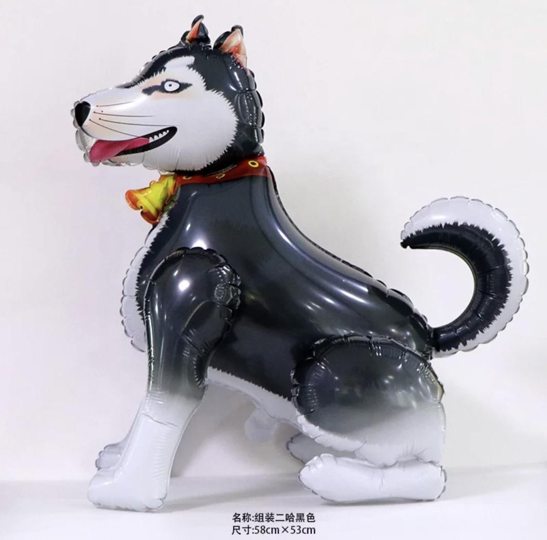 """Фольгированный шар 3D """"Собака"""".Размер 58*53 см.Индивидуальная упаковка."""