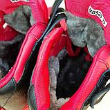 Жіночі зимові кросівки Air Force 1 Mid LV8 червоні, фото 5
