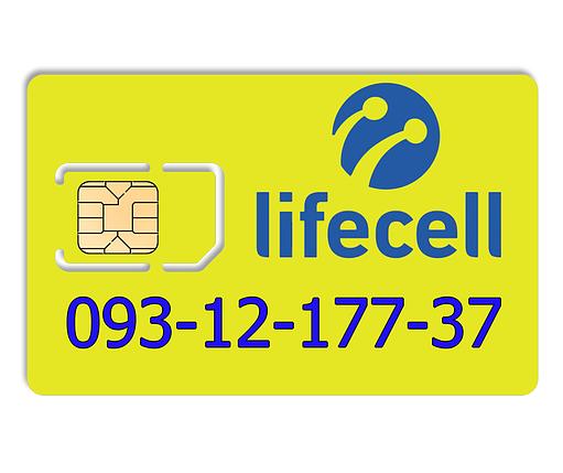 Красивий номер lifecell 093-12-177-37, фото 2