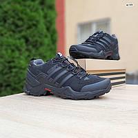 Мужские зимние кроссовки в стиле Adidas Swift черные с серым, фото 1