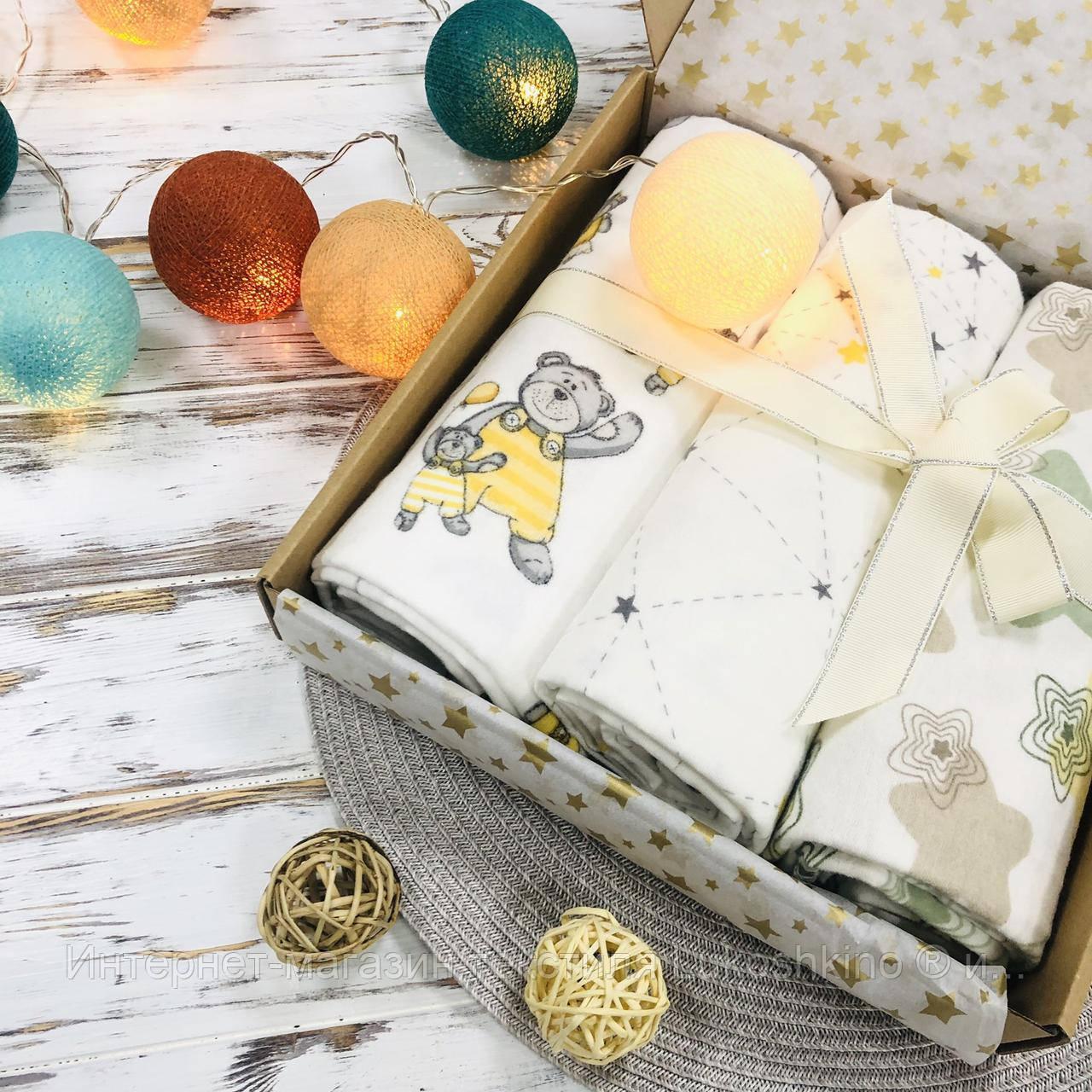 Подарочный набор пеленок Lukoshkino ® нейтральный №6