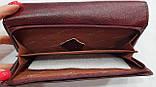 Женский каштановый кошелек из натуральной кожи Tailian на кнопке с монетницей внутри, фото 2