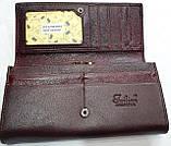Женский каштановый кошелек из натуральной кожи Tailian на кнопке с монетницей внутри, фото 4