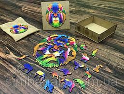 Пазл дерев'яний Naomibox Colorful Lion(110 деталей)