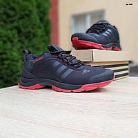 Мужские зимние кроссовки в стиле Adidas Climaproof черные на красной подошве, фото 1