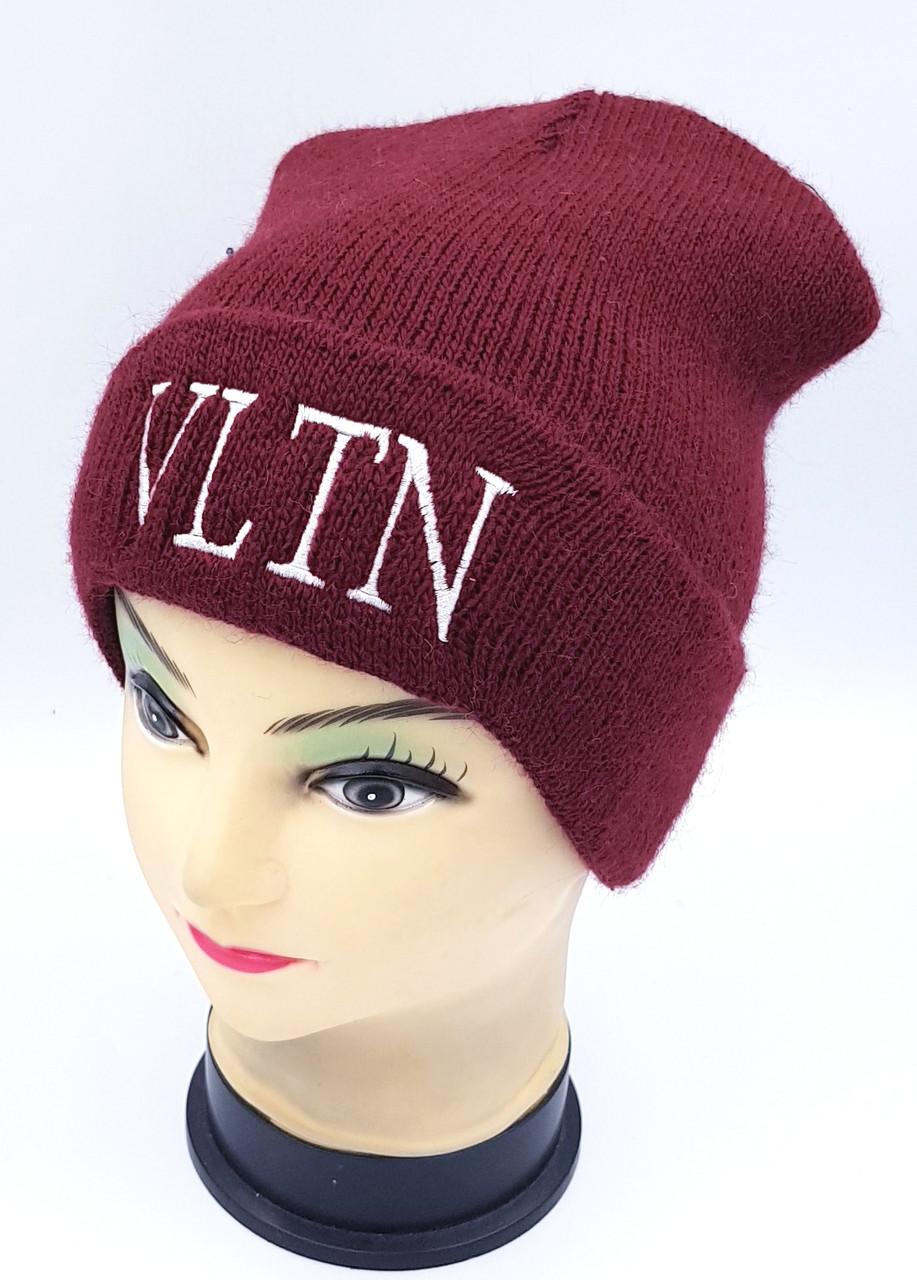 Детская вязаная шапка Klaus Объемная вышивка 53-55см (389-ВА)