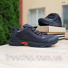 Чоловічі зимові кросівки Climaproof чорні з червоним язичком