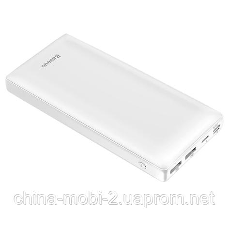 Банк заряда Baseus X30 2xUSB+Type-C 30000mAh 15W white, фото 2