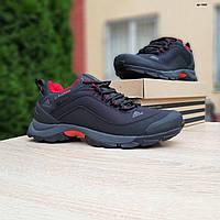Мужские зимние кроссовки в стиле Adidas Climaproof черные с красным внутри