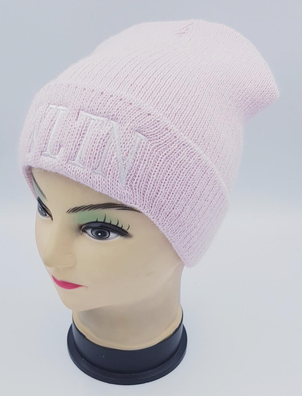 Детская вязаная шапка Klaus Объемная вышивка 53-55см (391-ВА)