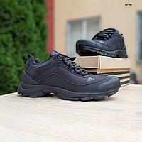 Мужские зимние кроссовки в стиле Adidas Climaproof черные без полосок, фото 1