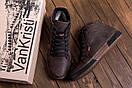 Мужские  зимние кожаные кроссовки  Levis Chocolate Classic (реплика), фото 8