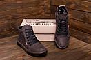 Мужские  зимние кожаные кроссовки  Levis Chocolate Classic (реплика), фото 10