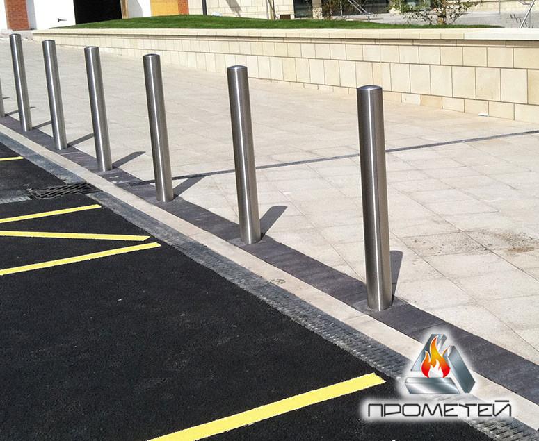 Стаціонарні вуличні дорожні загородження з нержавіючої сталі