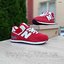 Жіночі зимові кросівки 574 червоні