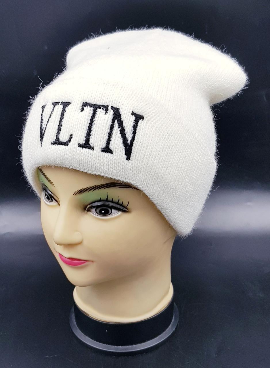 Детская вязаная шапка Klaus Объемная вышивка 53-55см (393-ВА)