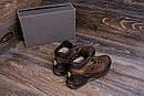 Мужские зимние кожаные ботинки Jack Wolfskin Chocolate (реплика), фото 9