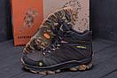 Мужские зимние кожаные ботинки Merrell Chocolate  (реплика), фото 8