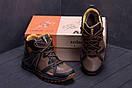 Мужские зимние кожаные ботинки Merrell Hyperlock Olive (реплика), фото 7