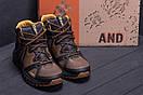 Мужские зимние кожаные ботинки Merrell Hyperlock Olive (реплика), фото 10