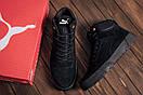 Мужские зимние кожаные ботинки Puma Black  (реплика), фото 7