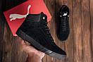 Мужские зимние кожаные ботинки Puma Black  (реплика), фото 8