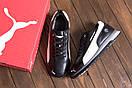 Мужские зимние кожаные кроссовки Puma BMW MotorSport Black Pearl (реплика), фото 9