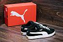 Мужские кожаные кеды Puma SUEDE Green (реплика), фото 9